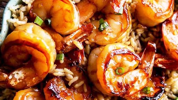 Recette Crevettes à l'Ail et au Miel