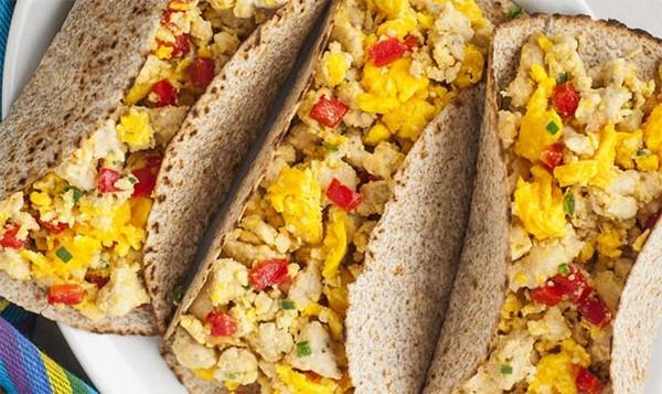 Recette Tacos aux œufs et à la Dinde