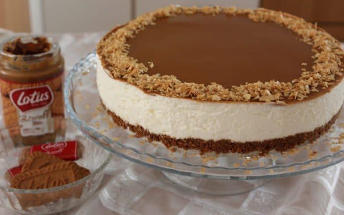 Recette Cheesecake Sans Cuisson Chocolat Blanc et Pâte Spéculoos