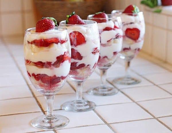 Recette Shortcake aux Fraises en Verrines