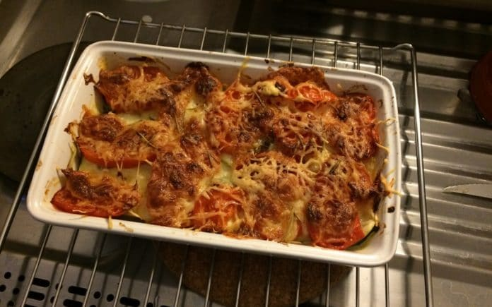 Recette Gratin de Courgette Tomate Mozzarella